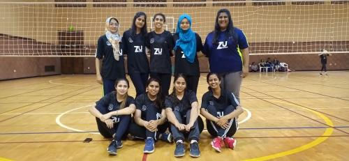 Ziauddin University Throwball Champs